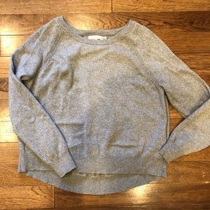 Banana Republic Sparkle Gray Crew Neck Sweater